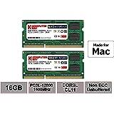 Komputerbay MACMEMORY 16GB Kit (2x8GB) DDR3L 1600MHz PC3L-12800 SODIMM Memory compatibile con Mac (16GB Kit (2x8GB))