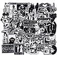 WayOuter 100 stuks stickers zwart-wit graffiti decals bumperstickers voor auto, skateboard, reiskoffer, laptop, skateboard