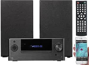 Auvisio Mini Hifi System Mit Dvd Cd Media Player Bluetooth Fm 120 Watt Audio Hifi