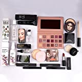 Nude Edition Eyeshadow, Essential Oil, Primer, Foundation, Compact Powder, Loose Powder, Concealer, Eyeliner, Mascara, Lipsti
