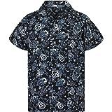 V.H.O. Funky Hawaiian Shirt | Men | XS-6XL | Short-Sleeve | Front-Pocket | Hawaiian-Print | Skulls