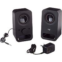Logitech Z150 Altoparlanti Stereo Multimediali Compatti, Ingresso Audio da 3.5 mm, Controlli Integrati, Jack Per Cuffie…