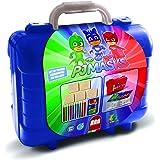 Multiprint Tashe Travel Set Pj Mask, Made in Italy, kleurboeken, met puzzels en kleurpotloden, stempelset kinderen, in hout e