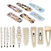 Longsing Barrette per Capelli Clip di Perle Perla Clip di Capelli Spille per Capelli con Perle Finte per Regali Forcine…