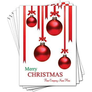 Corporate Christmas Cards.Personalised Corporate Christmas Cards Pack Of 10 A5 Size