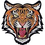 ZEGIN La Roaring del Bengala Striato Tigre Distintivo Ricamato Applicazioni Il Ferro su Cucia sulla Toppa Patch