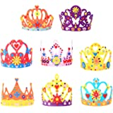 MEZOOM 8pcs fai da te corona di feltro principessa corone per ragazze feltro artigianato per ragazze fasce per capelli in pla