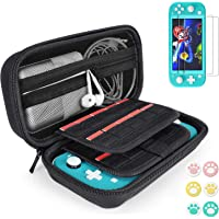 Case for Nintendo Switch Lite, Hard Carry Case with 20 Game Cartridges, 6x Thumb Grips Caps and 2x Screen Protector…