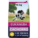 Eukanuba Alimento seco para cachorros de raza mediana, rico en pollo fresco 15 kg