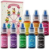 Colorant Alimentaire Liquide 8 Couleurs Concentré Nourriture Dye pour Gâteaux Macaron Biiscuits Bonbons