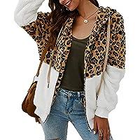 ABINGOO Cappotto Donna Casual Felpa con Cappuccio Giacca Leopardo Invernale Cerniera Giacche e Cappotti Vello Caldo…