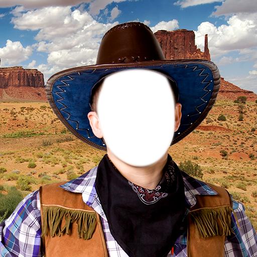 Cowboy-Foto-Montage (Bilder Von Cowgirl Kostüm)