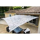 WERKA PRO 10105 - Toile d'ombrage Ajourée - 120 g/m2 - En Polyester - Rectangulaire - 2 x 3 m - Blanc - Pour Balcon, terrasse