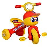 Goyal's Baby Tricycle Ride-On Bicycle Rambo Style - Foldable Rider with Music & Lights (Red)