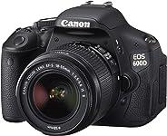 Canon 600D + EF-S 18-55mm Appareil Photo Numérique Compact 18.7 Mpix Noir (Reconditionné)