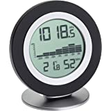 TFA Dostmann WeatherHub COSY BARO, digitale barometer-thermometer-hygrometer, weerstation, met grafisch overzicht, zwart, L12