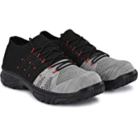 Manslam Knitted Fabric Steel Toe Safety Shoe Casual for Men UK 6
