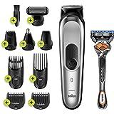 Braun MGK7220 - Recortadora 10 en 1, Máquina recortadora de barba, set de depilación corporal y cortapelos para hombre, color