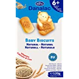 Danalac, Natural Baby Biscuits Finger Food Snack for Toddlers 6+ Months with Calcium Iron and Vitamins, 120 g