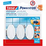 Tesa 57533-00016-01 Powerstrips Hooks Small OVAL, Klein, Wit