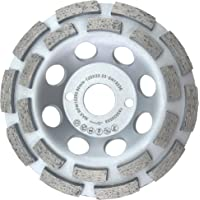 PRODIAMANT Premium Diamant-Schleiftopf Beton/universal 125 mm x 22,2 mm doppelreihig silber Diamantschleiftopf PDX829.025 125mm