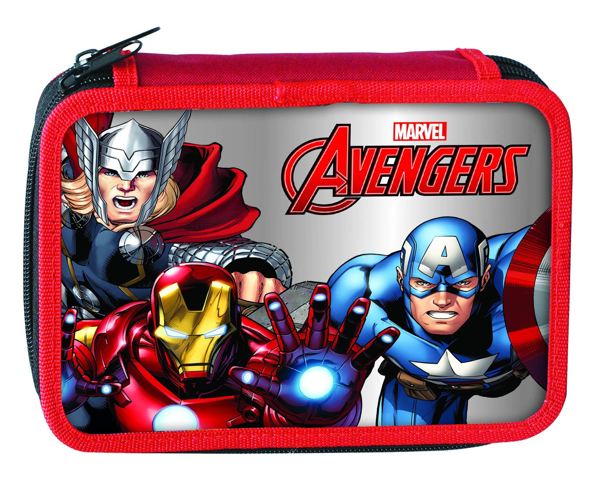 Avengers- Estuches Unisex Adulto Plumier 14x20x3,5 cms 33723100 Disney Colores Infantil,, Talla única (Factory CR 1)