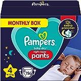 Pampers Baby-Dry Night Luierbroek Maat 4, 156 Luiers, 9kg-15kg, Pampers Night Pants Bieden Extra Bescherming De Hele Nacht La
