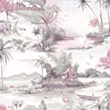 Manyara Wallpaper Elephant Trees Flowers Jungle Birds Boats Flamingos Holden