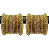 YouBella Fashion Jewellery Traditional Gold Plated Bracelet Bangles Set for Girls and Women