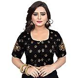 Spangel Fashion Sequence Work Round Neck Women's Saree's Blouse