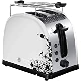Russell Hobbs 21973-56 Toaster Grille Pain Legacy Floral, Fentes Larges, Brunissage Rapide, Réchauffe Viennoiseries Inclus