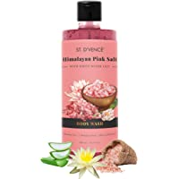 ST. D'VENCE Himalayan Pink Salt Body Wash With Water Lily (500 Ml), 500 ml