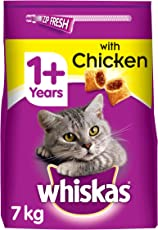 Whiskas Katzen-/Trockenfutte 1+ für Katzen mit Huhn