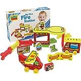 Millaminis My First Fire Station - Spielzeug ab 2 Jahren - Kleinkind Spielzeug für Zuhause, Draußen, Sandkasten und Wasser - Feuerwehrhaus