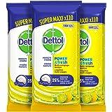 Dettol Power en Fresh MultiReinigingsdoekjes - Citrus 3 x 110 DoekjesGrootverpakking