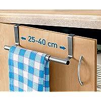 Tatkraft Spread – Over Door Towel Rail – Extendable Towel Holder for Cupboard Drawer Cabinet – Anti-Slip Scratch…