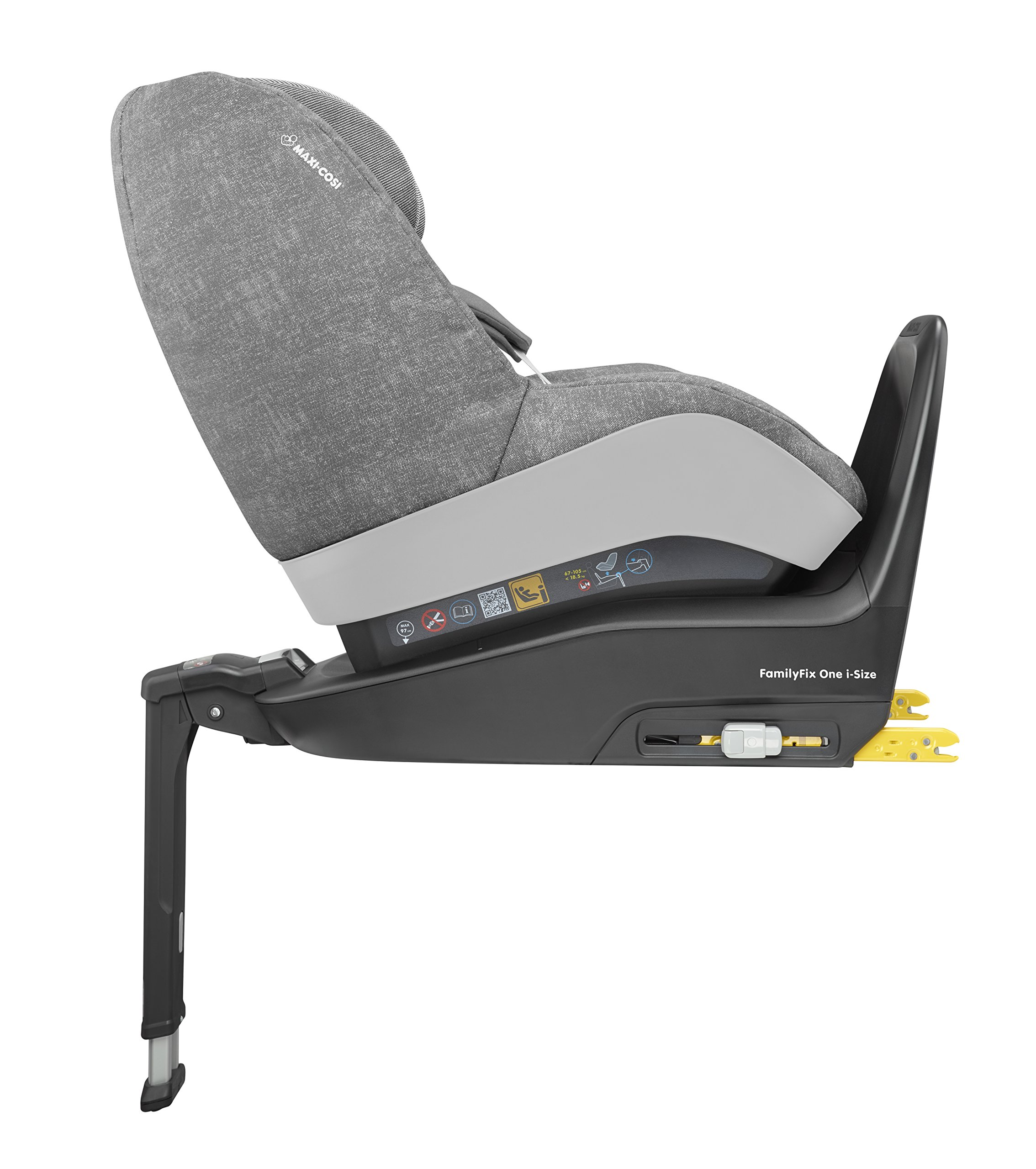 Maxi-Cosi Pearl One i-Size Toddler Car Seat Group 1, Rear-Facing Car Seat, ISOFIX, 67-105 cm, 6 Months-4 Years, Nomad Grey Maxi-Cosi Must be used with the maxi-cosi family fix one i-size base Approved according to the latest european safety standard i-size (r129) Innovative stay open harness to easily get the child in and out in seconds 4