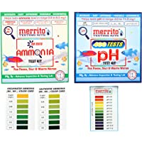 MERRITO Combo of ph Test Kit WW66 Ammonia Test Kit Water Test Kit Suitable for Salt and Fresh Water