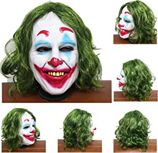 Clown Bald Wig White Latex Cap Circus Carnival Halloween Adult Costume Accessory