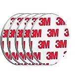 ECENCE Rookmelder magneethouder 5 stuks zelfklevende magneethouder voor rookmelder Ø 50 mm snelle & veilige montage zonder te