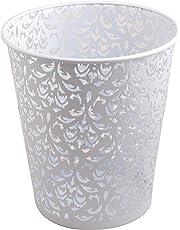 Callas Mesh Kitchen, Office Wastebasket, Set of 2, White