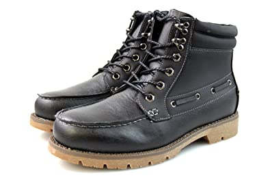 Mens Black Brown Chukka Technical Boots Outdoor Winter Hiking Faux Fur Lining All Sizes 5 6 7 8 9 10 11 12  B076624G3M