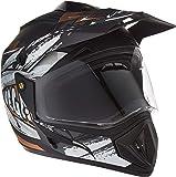 Vega Off Road D/V Fighter Dull Black Silver Helmet, M