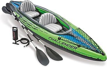 Intex Inflatable Challenger K2 Kayak Boat, Multi Color