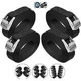 BB Sport Sjorband spanband bevestigingsband met klemgesp - zwart, beschikbaar in verschillende lengtes en hoeveelheden - draa