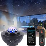LED-stjärnhimmelprojektor med Bluetooth-högtalare I stjärnljus projektor nattlampa/bluetooth musikspelare/fjärrkontroll/timer