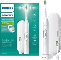 Philips Sonicare ProtectiveClean 6100 Electric Toothbrush with Travel Case, 3 x Cleaning Modes, 3 Intensities & Additional Toothbrush Head - White (UK 2-pin Bathroom Plug) - HX6877/29