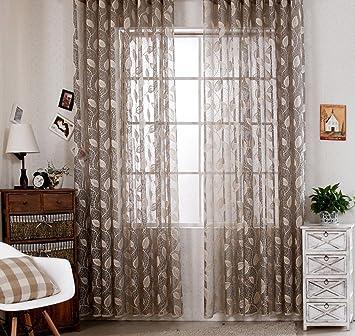Amazonde RLANG Vorhnge Wohnzimmer Modern Mit Kruselband Oben Gardinen Grau Und Gold HxB 180x300