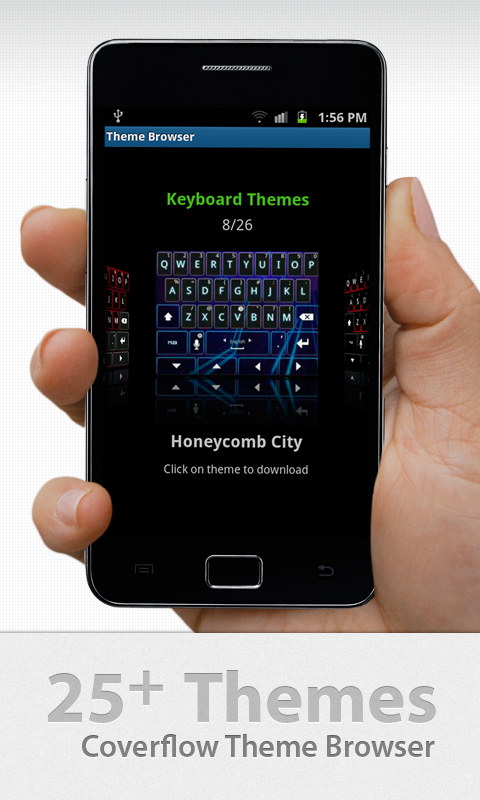 thumb keyboard phone tablet apps f r android. Black Bedroom Furniture Sets. Home Design Ideas