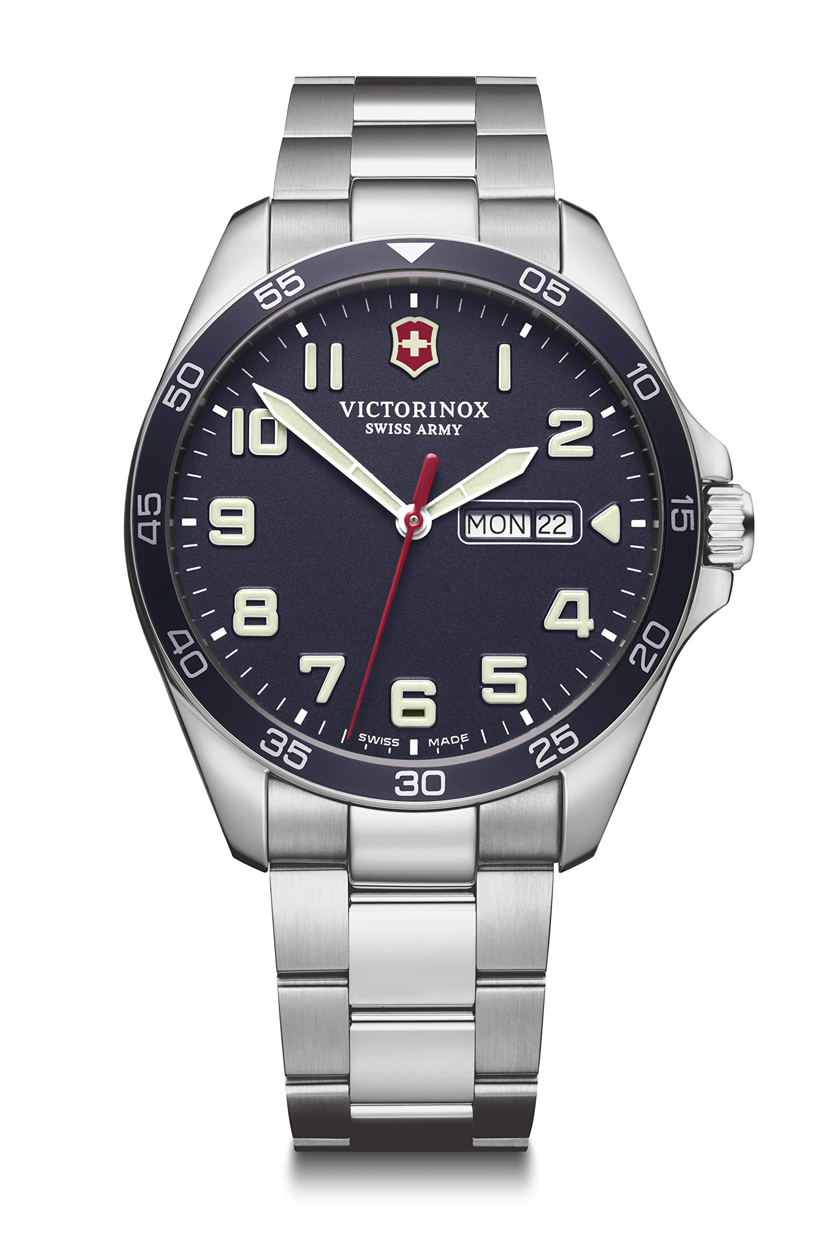 Victorinox Men's Field Force – Swiss Made Analogue Quartz Stainless Steel Watch with Day/Date 241851